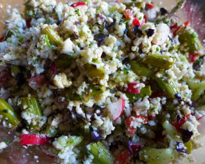 Falscher Couscous-Salat
