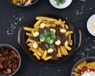 Poutine-Variationen (vegan)