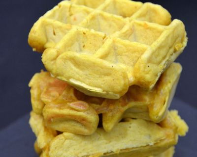 Kokos-Curry-Waffeln (vegan)