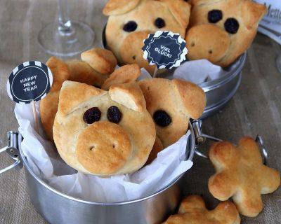 Happy New Year Lucky Piggies Cookies  * Neujahrsschweinchen