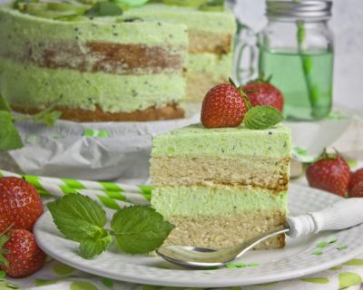Kiwi-Melonen-Torte – Happy Birthday!