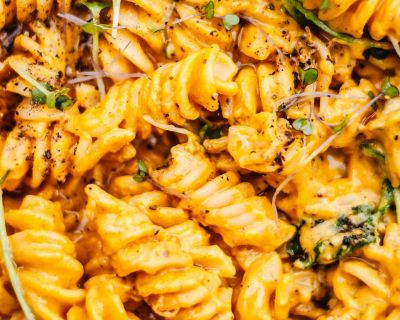 Vegan Pumpkin Mac 'n' Cheese