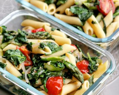 Pasta mit Spinat und Spargel | Pasta with spinach and asparagus