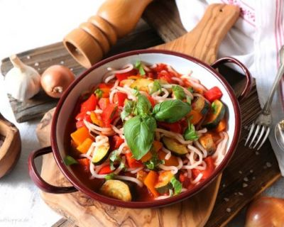 One Pot Ratatouille-Spaghetti low carb