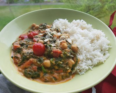 Kichererbsen-Spinat Curry